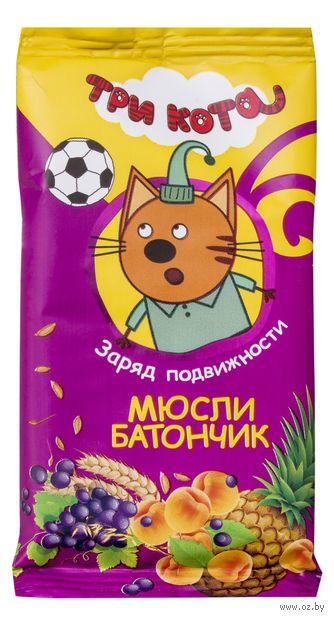 "Батончик ""Три кота. Абрикос и злаки"" (40 г) — фото, картинка"