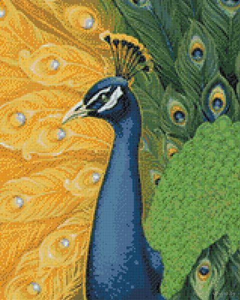 "Алмазная вышивка-мозаика ""Королевский павлин"" (400х500 мм) — фото, картинка"