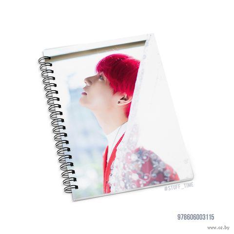 """Блокнот в клетку """"BTS. Taehyung"""" (A5; арт. 3115) — фото, картинка"""