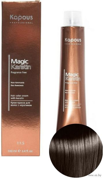 "Крем-краска для волос ""Non Ammonia"" тон: 4.0, коричневый — фото, картинка"