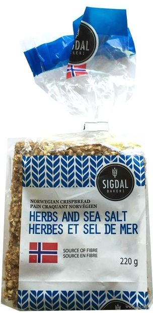 "Хлебцы хрустящие ""Herbs and Sea Salt"" (220 г) — фото, картинка"