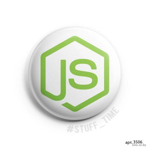 """Значок маленький """"Node.js"""" (арт. 3506) — фото, картинка"""