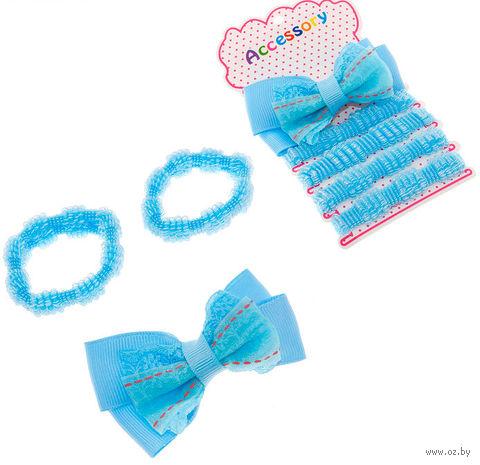 """Набор аксессуаров для волос """"Малютка"""" (голубой) — фото, картинка"""