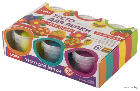 "Тесто для лепки ""Набор №13"" (6 цветов) — фото, картинка"