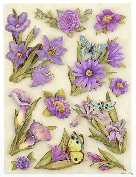 """Стикеры для скрапбукинга """"Мир растений. Пурпурные цветы"""""""
