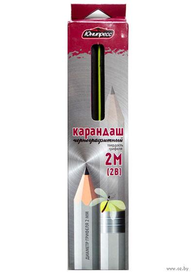 Набор карандашей чернографитных с ластиком (12 шт.; 2B)