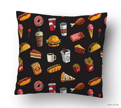"Подушка маленькая ""Fast food"" (арт. 6; 15х15 см) — фото, картинка"