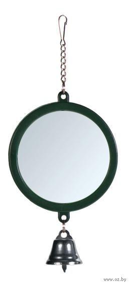 """Игрушка для птиц """"Зеркальце с колокольчиком"""" (7 см; арт. 5216) — фото, картинка"""