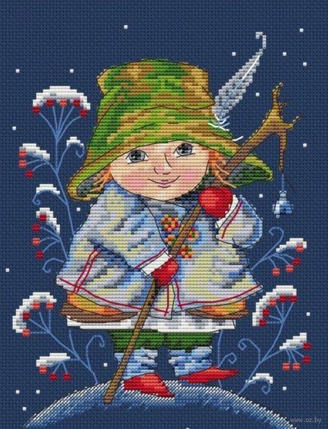 """Вышивка крестом """"Рождественский колокольчик"""" (150х200 мм) — фото, картинка"""