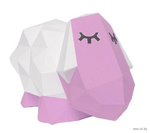 """3D-конструктор """"Овечка Долли"""" (розовый) — фото, картинка"""