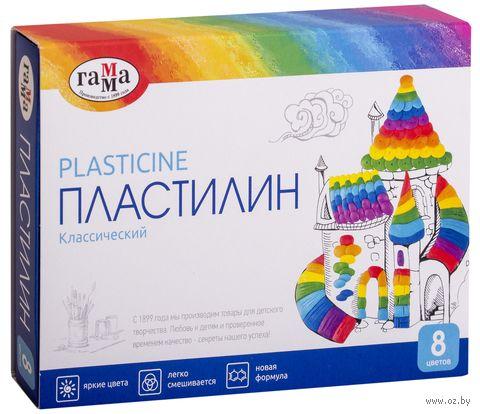 "Пластилин со стеком ""Классический"" (8 цветов) — фото, картинка"