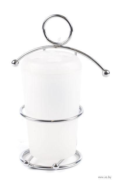 Стакан туалетный пластмассовый на подставке (80х75х170 мм)