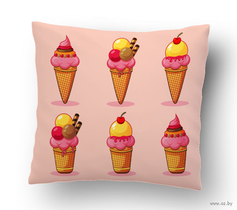 """Подушка маленькая """"Мороженое"""" (art.8)"""