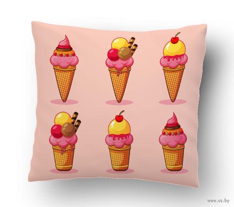 """Подушка маленькая """"Мороженое"""" (арт. 8; 15х15 см) — фото, картинка"""