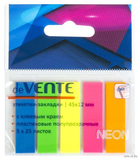 Набор закладок клейких (5 цветов по 25 шт.) — фото, картинка