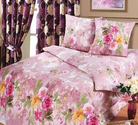 """Постельное белье """"Аромат лета. Розовый"""" (двуспальное с европростыней) — фото, картинка"""