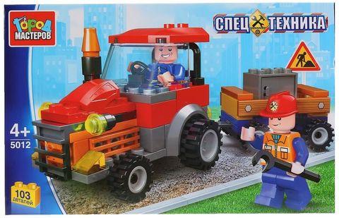 "Конструктор ""Спецтехника. Трактор с тележкой"" (103 детали) — фото, картинка"