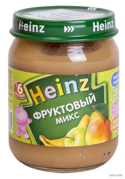 """Детское пюре Heinz Baby """"Фруктовый микс"""" (120 г) — фото, картинка"""