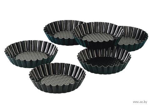 Форма металлическая для выпекания кексов (6 шт.; 100х20 мм)