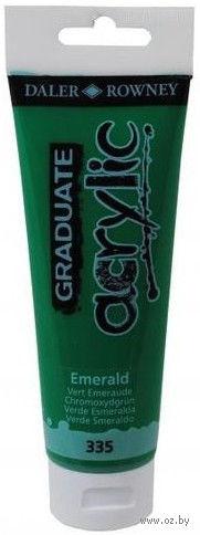 """Краска акриловая """"Graduate"""" в тубе (зеленый изумрудный; 120 мл) — фото, картинка"""