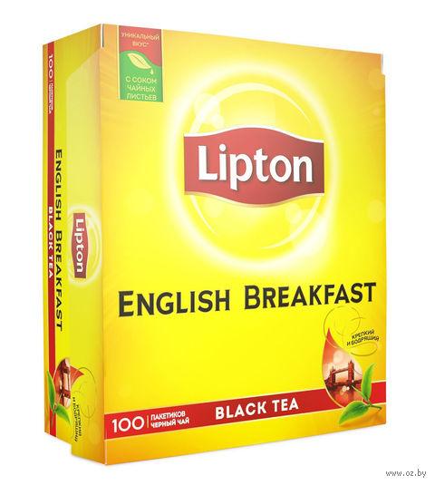"""Чай черный """"Lipton. English Breakfast"""" (100 пакетиков) — фото, картинка"""