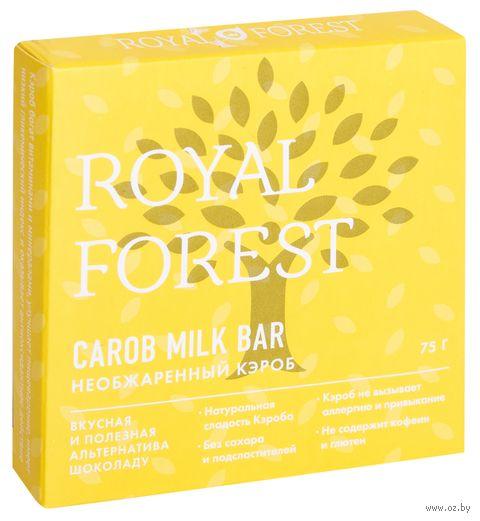 """Шоколад из кэроба """"Royal Forest. Необжаренный"""" (75 г) — фото, картинка"""