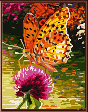"Картина по номерам ""Оранжевая бабочка"" (300х400 мм)"