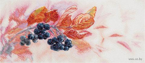 "Вышивка крестом ""Осенний вальс"" (375х165 мм) — фото, картинка"