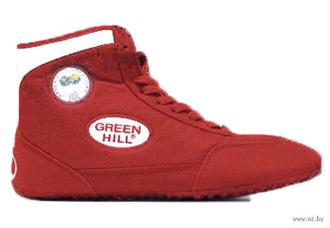 Обувь для борьбы GWB-3052/GWB-3055 (р. 35; красно-белая) — фото, картинка