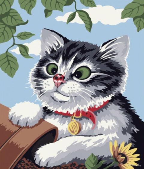 """Картина по номерам """"Любопытный котенок"""" (300x400 мм; арт. ME085)"""