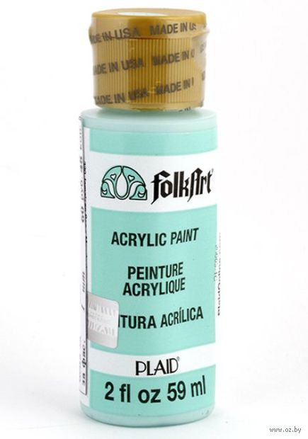 "Краска акриловая ""FolkArt. Acrylic Paint"" (светлая бирюза, 59 мл; арт. PLD-00320)"