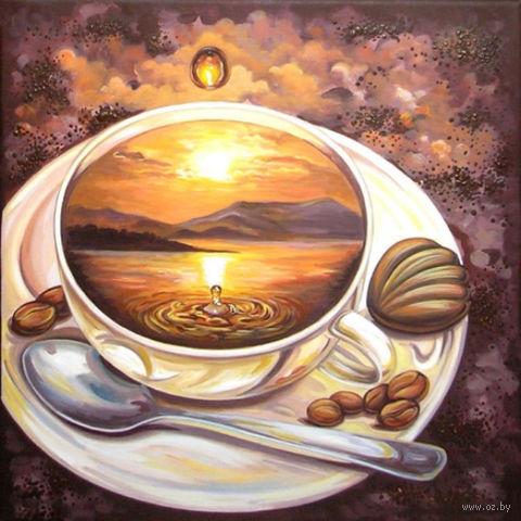 """Алмазная вышивка-мозаика """"Кофейное путешествие"""" (400х400 мм) — фото, картинка"""