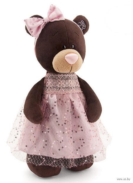 """Мягкая игрушка """"Медведь Milk в платье с блестками"""" (30 см)"""