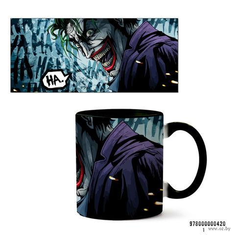 """Кружка """"Джокер из вселенной DC"""" (черная; арт. 0420) — фото, картинка"""