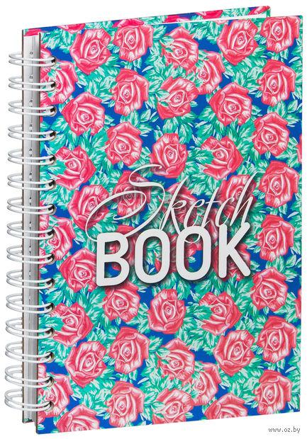 """Скетчбук """"Орнамент из роз"""" (А5) — фото, картинка"""
