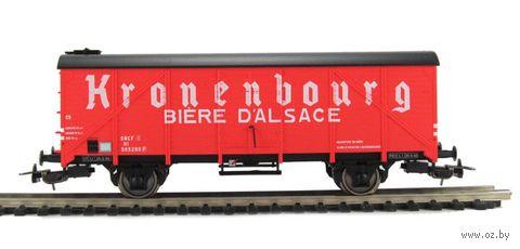 """Модель вагона """"Вагон-рефрижератор Kronenbourg SNCF III"""" (масштаб: 1/87) — фото, картинка"""