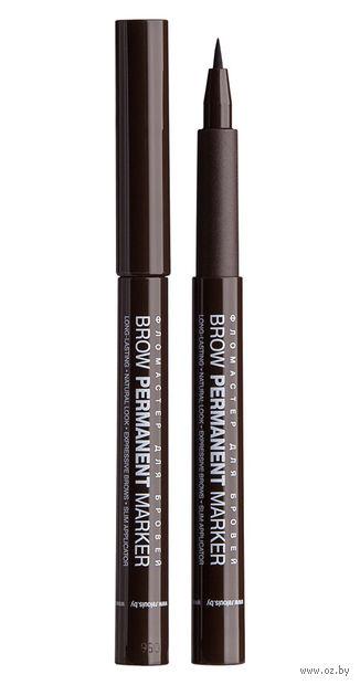 "Фломастер для бровей ""Brow Permanent Marker"" тон: 03, dark brown — фото, картинка"