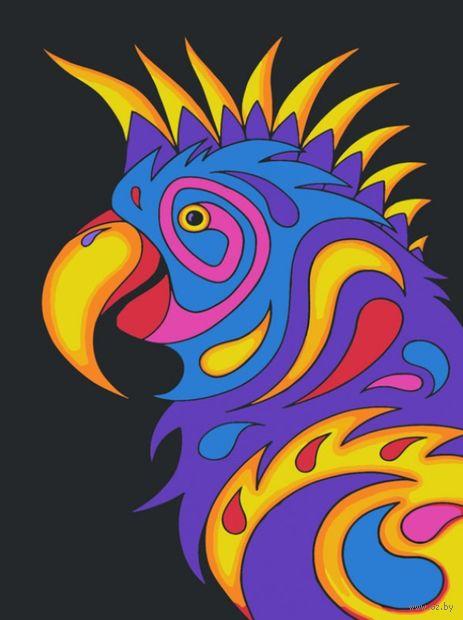 "Картина по номерам ""Попугай"" (300х400 мм) — фото, картинка"