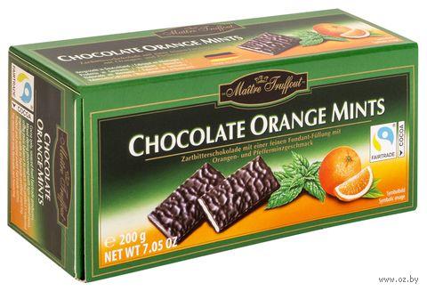"Шоколад темный ""Chocolate Orange Mints"" (200 г) — фото, картинка"