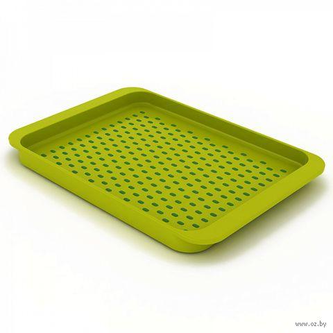"""Поднос пластиковый """"Grip Tray"""" (малый; зеленый)"""