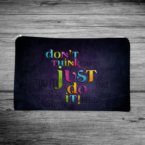 "Косметичка ""Don't think just do it!"" (арт. 19) — фото, картинка"