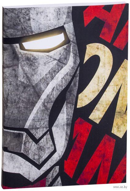 """Блокнот белый """"MARVEL. Железный человек"""" А5 (арт. 418)"""