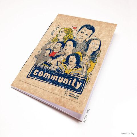 """Блокнот крафт """"Community"""" (А5; арт. 129)"""
