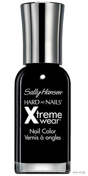 """Лак для ногтей """"Hard as nails xtreme wear"""" (тон: 370, черный)"""