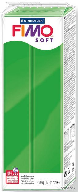 """Глина полимерная """"Soft"""" (тропический зеленый; 350 г) — фото, картинка"""