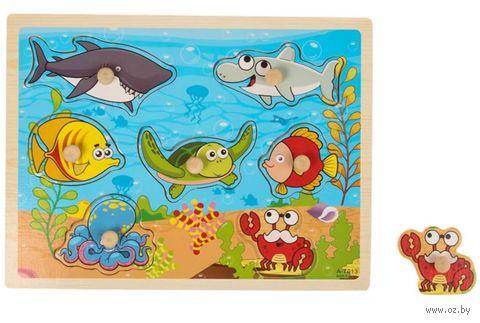 """Рамка-вкладыш """"Подводные обитатели"""" (арт. 2749-5-1) — фото, картинка"""