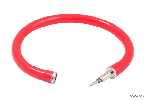 """Ручка шариковая синяя """"Браслет"""" (0,7 мм; красный корпус; продается только в розничных магазинах OZ) — фото, картинка"""