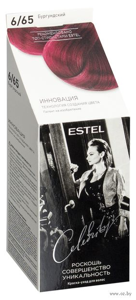 "Краска-уход без аммиака ""Estel Celebrity"" (тон: 6.65, бургундский)"