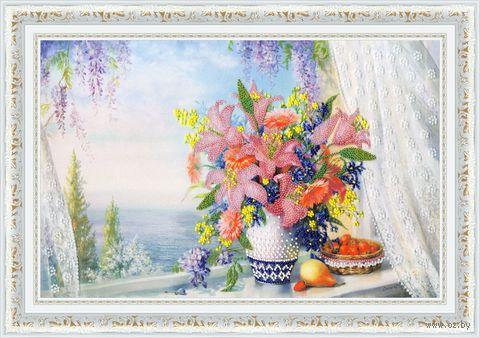 "Вышивка бисером ""Букет лилий"" (395х260 мм) — фото, картинка"