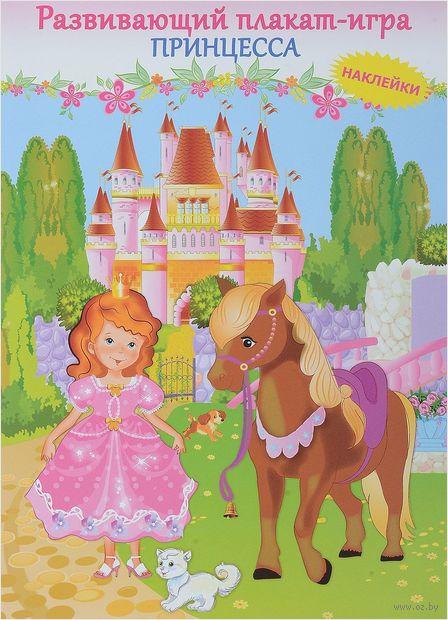 Принцесса. Развивающий плакат-игра с наклейками — фото, картинка